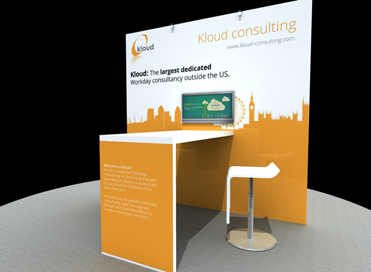 Kloud Exhibition Stand for Workday Rising Europe