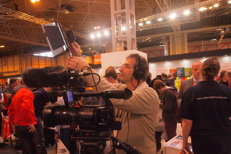 nick filming at the NEC
